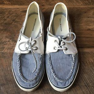 Tommy Hilfiger Striped Boat Shoes